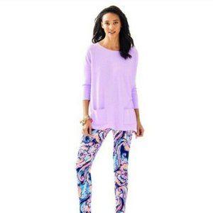 LILLY PULITZER XS Oversized Purple Sweater